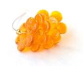 Lampwork Glass Flower Disc Beads Tangerine Honey made to order handmade