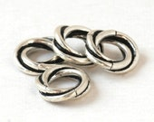 Twisted Sterling Silver European Charm Big Hole Bead for Bracelets