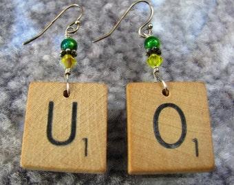 Scrabble earrings - UO