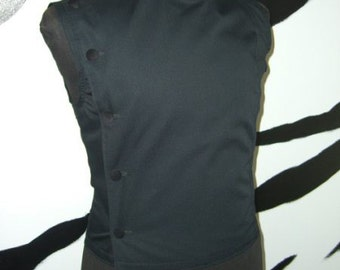 Men's sleeveless Buttoned top Supernal Clothing goth gothic cyber industrial steampunk fetish clubwear menswear costume sci-fi fantasy