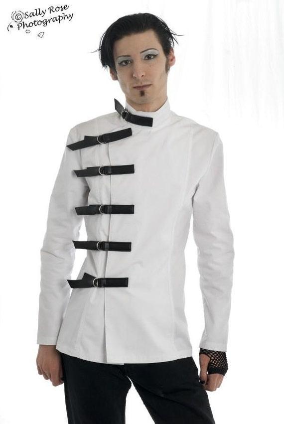 Men's Medical Style Buckle Jacket Supernal Clothing goth gothic cyber fetish clubwear costume steampunk sci-fi mad scientist