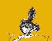 Climbing Squirrel Print