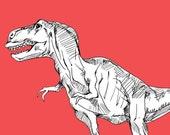 The Infamous Tyrannosaurus Print