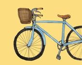 Blue Bike Print