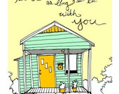 Home is With You Print Spring Green Edition