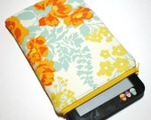 SALE - Tangerine Bouquet Padded eReader Sleeve