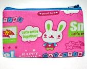 SALE - Happy Bunny Zipper Pouch