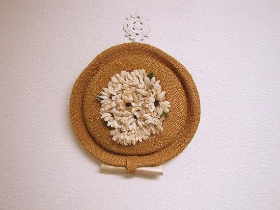 1950s Balenciaga New Look Tilt Platter Hat I Magnin