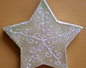 Silver Winter Holiday Star