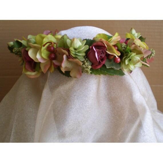 Cool Brandegeana Faerie Fairy Head Wreath