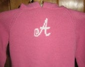 Monogram Personalized hoodie zip up the back sweater cotton-you choose