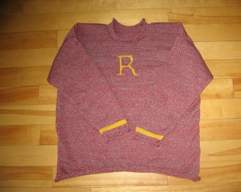 Child Pullover Ron Weasley Harry Potter Sweater.. you choose your color & initial ***FREE SHIPPING***