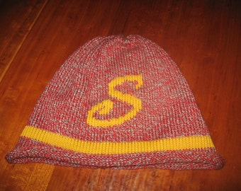 Harry Potter Ron Weasley Gryffendor Hogwarts Beanie initial acrylic knit hat you choose letter and color