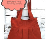 pleated tote PDF sewing pattern