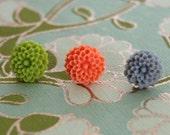 Flower Earring Trio - Dahlias
