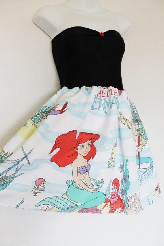 The LITTLE MERMAID Disney Party Dress Bow Disney Ariel LARGE