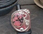 RESERVED FOR MAZAGAN vintagesole Fun & Funky Pink Jasper Ring