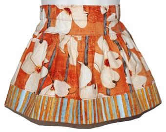 size 6-12 months - AUTUMN DOGWOOD - Boutique Twirl Skirt - OOAK
