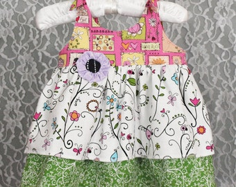 Boutique Baby Dress - CUTSIE GARDEN - size 0-3months - On Sale