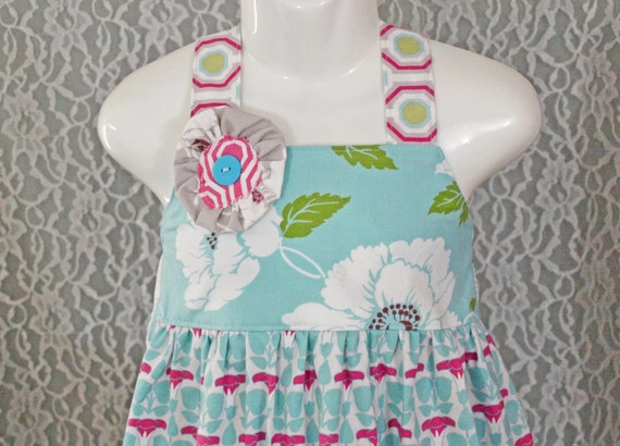 Toddler size 2T - Boutique Girls Dress - MORNING GLORY  - Ooak