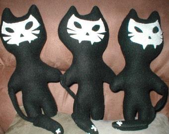 Ghost Dead Black Kitty stuffed toy