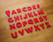 26 Felt Letters - Upper Case Alphabet - single color