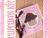KIT for the Lets Bake Cupcakes Plush Recipe Book