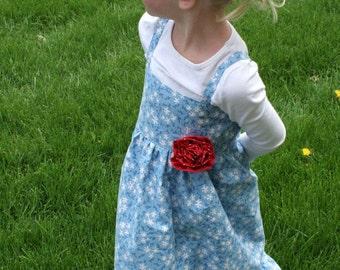 Blue Floral Summer Dress 3T/4T
