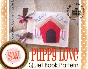 PATTERN for Puppy Love plush/quiet book - PDF