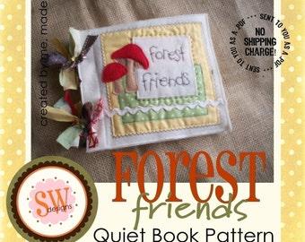 PATTERN for Forest Friends Animals plush/quiet book - digital .PDF downloads