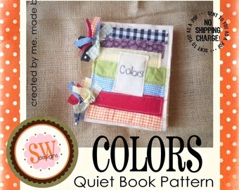 PATTERN for Colors Activity Book - digital .PDF download