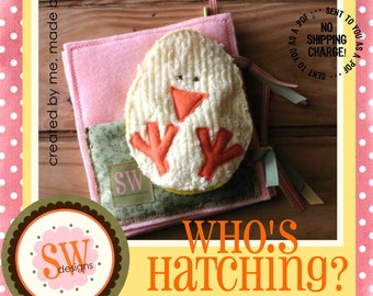 PATTERN for Who's Hatching Quiet Book - digital .PDF download