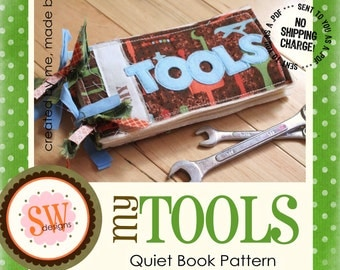 PATTERN for My Tools Plush Book - digital .PDF download