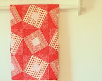 Poppy Squares Baby/Lap Quilt - ooak