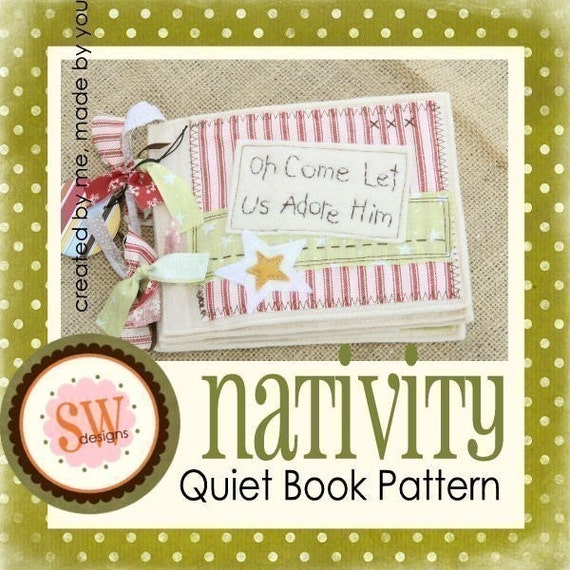 Quiet Book Cover Pattern : Pattern for nativity quiet book pdf