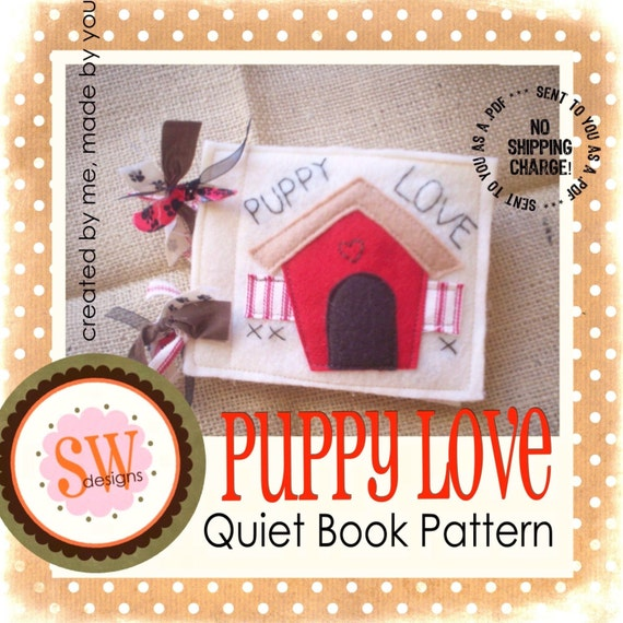 Quiet Book Cover Pattern : Pattern for puppy love plush quiet book pdf