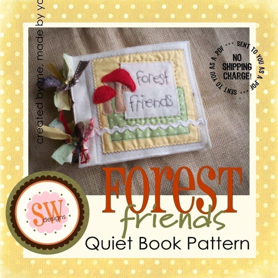 PATTERN for Forest Friends Animals plush/quiet book - digital .PDF downloads
