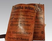 Obama Makes History Cross Body Leather Bag