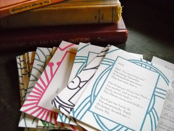 Emily Dickinson letterpress-printed card deck