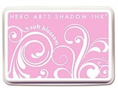 Reserved -- Soft Blossom Ink Pad -- Hero Arts Shadow Ink -- Pink