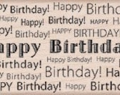 Reserved -- Hero Arts Rubber Stamps Happy Birthday Background G4939
