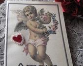 Handmade Parisian Journal with Amour and Cherub