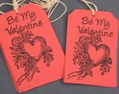 Be My Valentine Gift Tags Set of 8