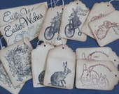 Easter Gift Tags Vintage Looking Set of 12