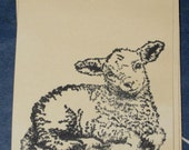 Easter Gift Tags with Lamb Set of 8