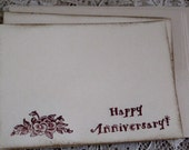Anniversary Note Cards Set of 4