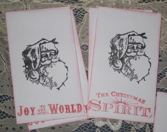 8 Christmas Coin Envelopes with Santa