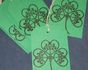 St Patricks Day Gift Tags Clover Set of 15