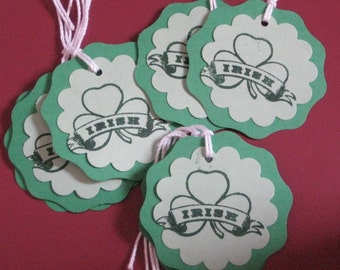 Staint Patricks Day Gift Tags Set of 8