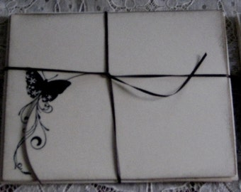 Notecards with Butterfly Set of 4